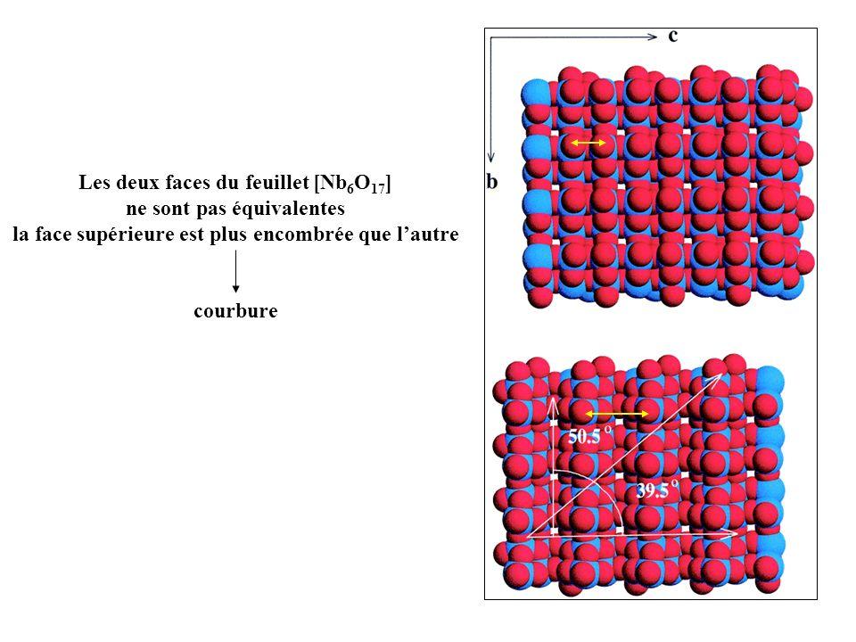 Les deux faces du feuillet [Nb6O17] ne sont pas équivalentes
